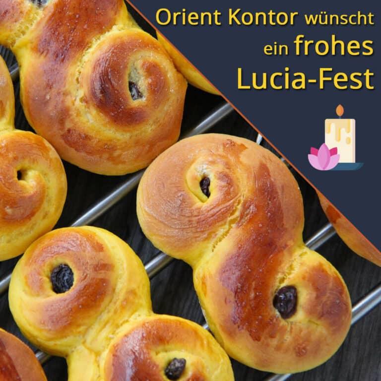 Orient Kontor wünscht ein frohes Lucia-Fest. Lussekatter