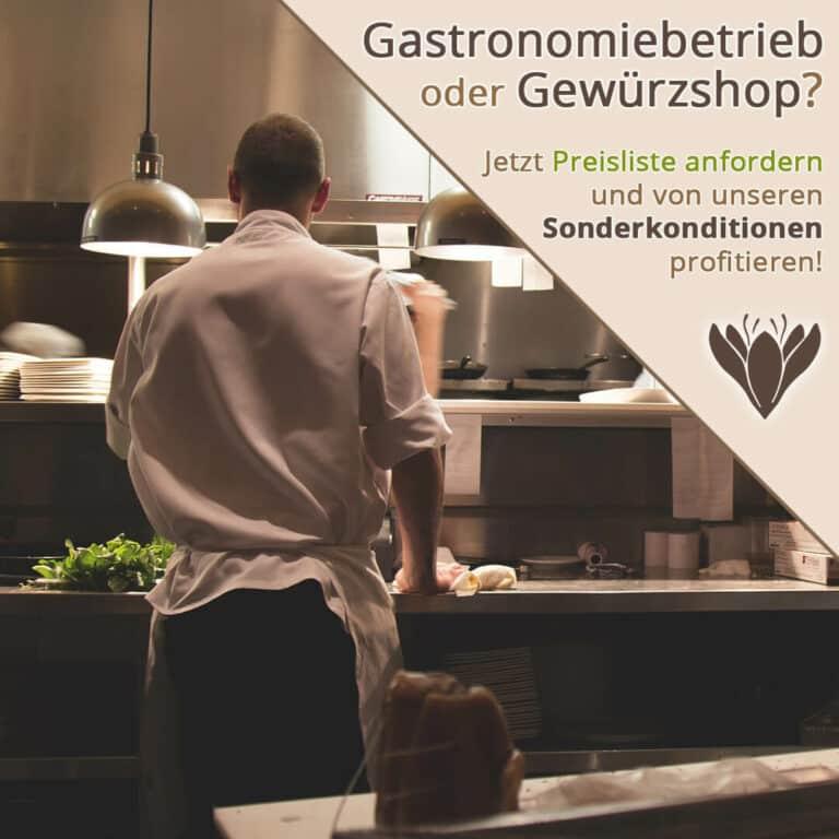 Restaurantküche und Koch